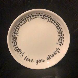 Love you always trinket tray